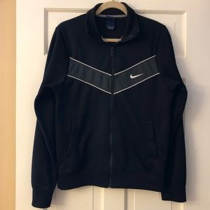 Nike Athletic/Warm-Up Jacket (Black)